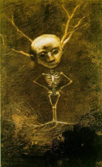 Redon. Esprit de la forêt, 1880