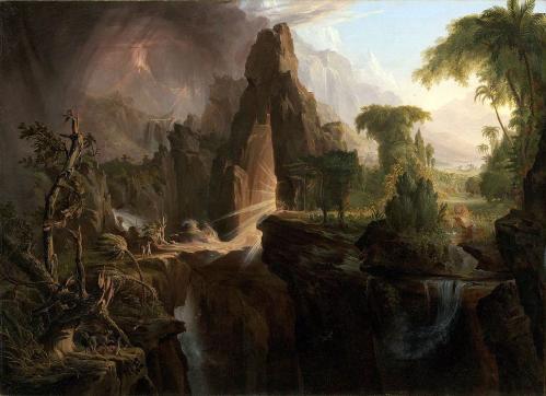 Thomas Cole. L'expulsion du jardin d'Eden (1828)