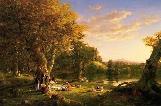 Thomas Cole. Le pique-nique (1846)