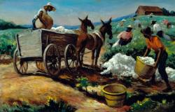 Thomas Hart Benton. Cotton Picking and Loading (1944)