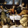 Tintoret. Le souper à Emmaüs (1542-43)