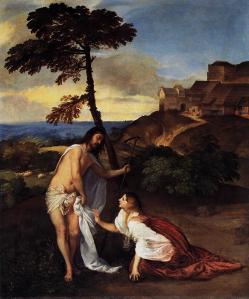 Titien. Noli me Tangere (v. 1514)