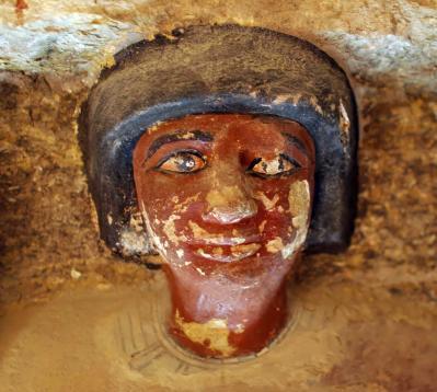 Tombe d'Iroukaptah, détail d'une statue (v. -2400-2350)