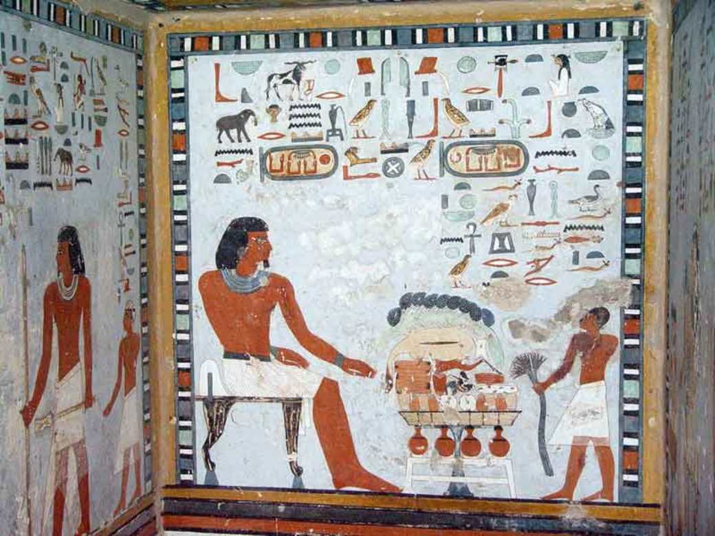 Peinture gyptienne dans l antiquit for Decoration egyptienne murale