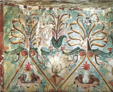 Tombe des palmettes, plafond (début 3e s)