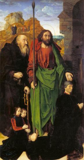 Van der Goes. Triptyque Portinari, volet gauche (1475-77)