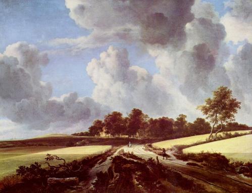 Van Ruisdael. Champs de blé (1670)