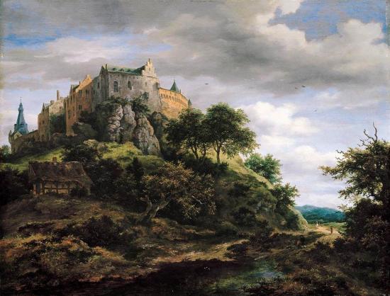 Van Ruisdael. Vue nord-ouest du château de  Bentheim (1652)