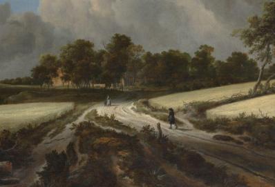 Van Ruisdael. Champs de blé, détail(1670)