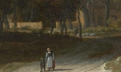 Van Ruisdael. Champs de blé, détail (1670)