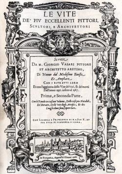 Vasari. Les vies, édition originale de 1568