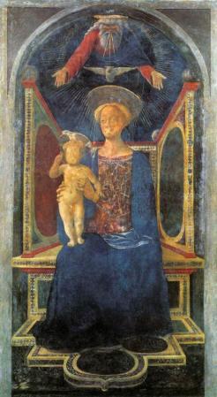 Veneziano. Vierge à l'enfant ou Tabernacle Carnesecchi (1435)