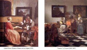 Vermeer. Influence de Gabriel Metsu