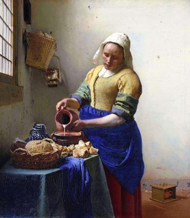 Vermeer. La Laitière (1660)