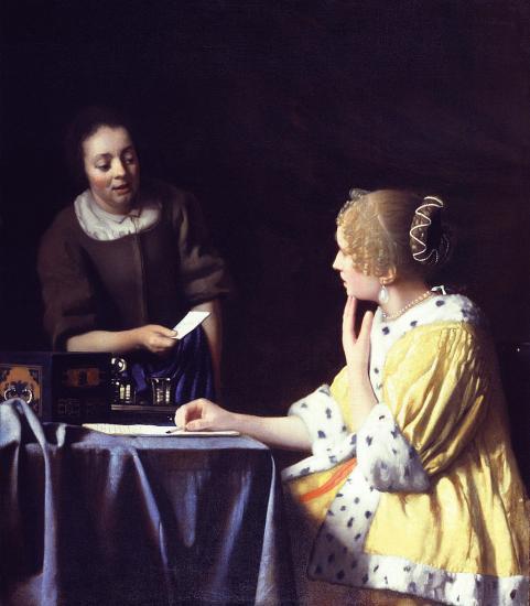 Vermeer. La maîtresse et la servante (1666-67)