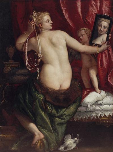 Véronèse. Vénus au miroir (v. 1585)