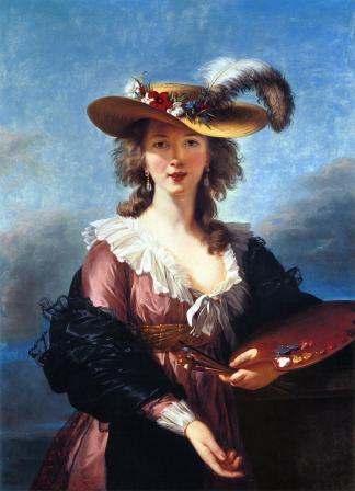 Elisabeth Vigée-Le Brun. Autoportrait au Chapeau de Paille (1782)