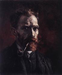 Vincent van Gogh. Autoportrait à la pipe (1886)