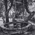 Vincent van Gogh. Fontaine du Jardin de l'hôpital Saint-Paul (1889)