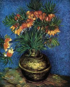 Vincent van Gogh. Fritillaires, couronne impériale dans un vase de cuivre (mai 1887)