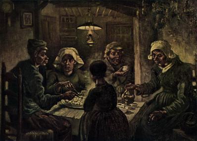 Vincent van Gogh. Les mangeurs de pommes de terre (avr. 1885)