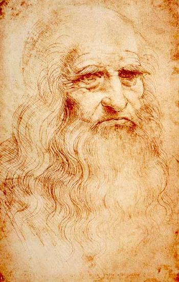 Vinci. Autoportrait (1512-15)