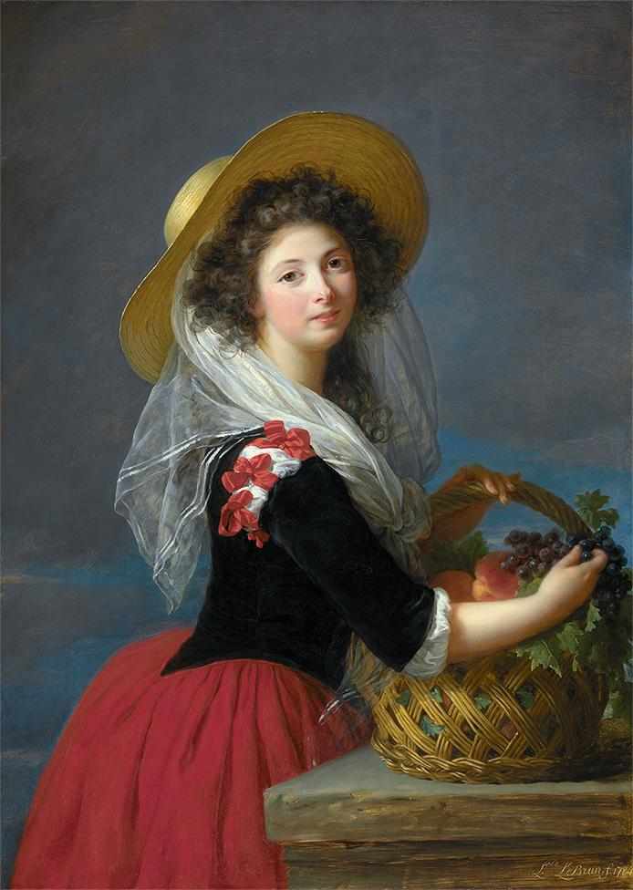 Célèbre Vigée-Le Brun. Autoportrait au Chapeau de Paille (1782) RF98