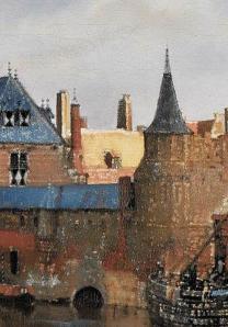 Vue de Delft. Le pan de mur jaune