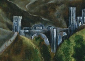 Vue de Tolède, pont d'Alcantara