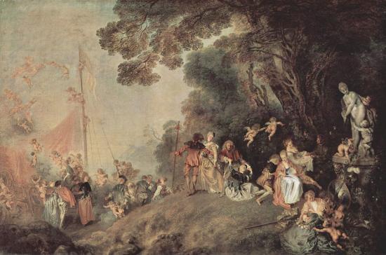Watteau. L'Embarquement pour Cythère, 1718