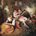 Watteau. La Gamme d'amour, 1717