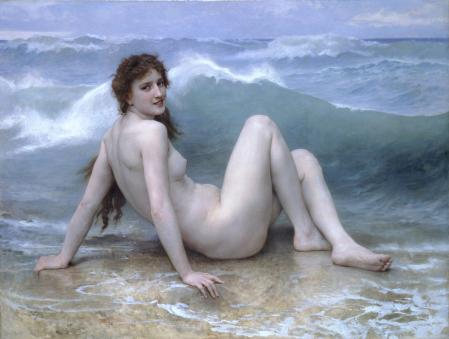 William Bouguereau. La vague (1896)
