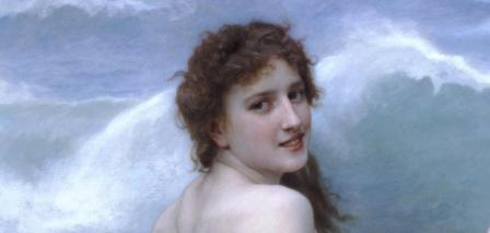 William Bouguereau. La vague, détail (1896)