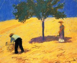 Arbre dans un champ de blé, 1907