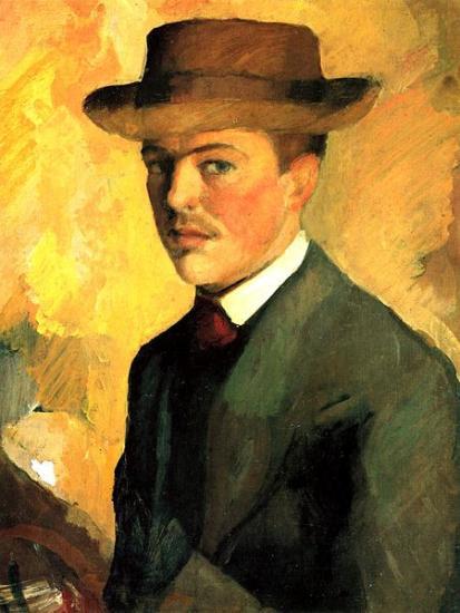 Autoportrait au chapeau, 1909
