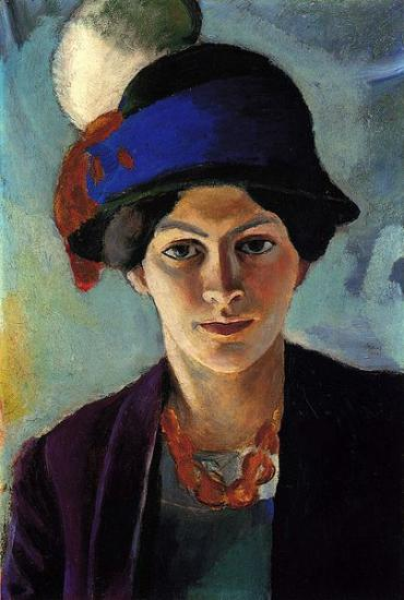 Macke. Femme de l'artiste, 1909