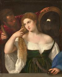 Titien, Portrait d'une femme à sa toilette (1512)