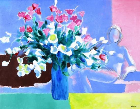 Guiramand. Vase de fleurs