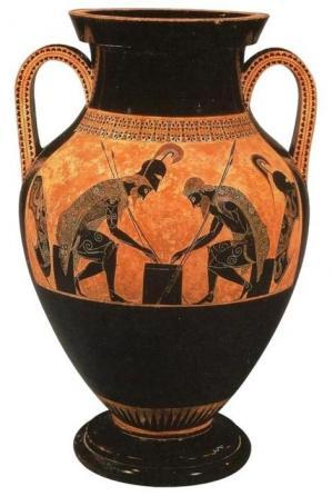 Achille et Ajax jouant aux dés (v. 540 avant J.-C.)