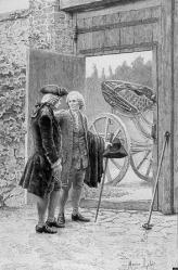 Rousseau fait ses adieux au Maréchal de Luxembourg (gravure)