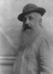 Adolf de Meyer. Photographie de Claude Monet âgé