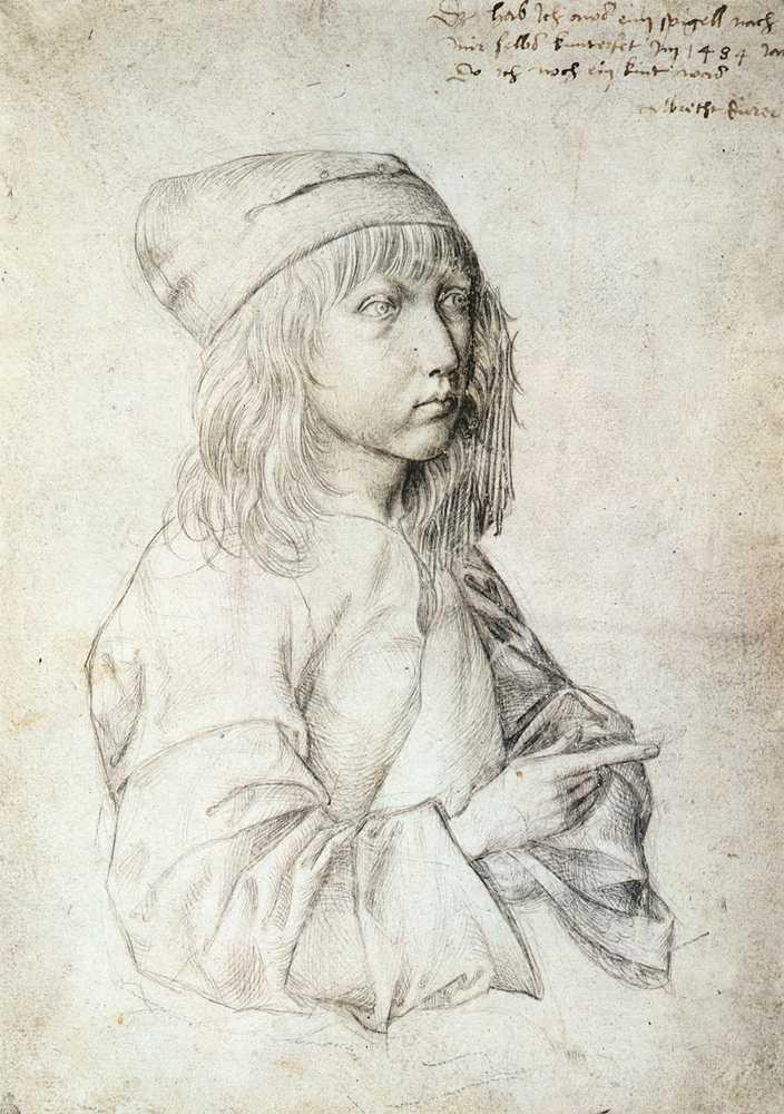 albrecht drer autoportrait 13 ans 1484 - Albrecht Drer Lebenslauf