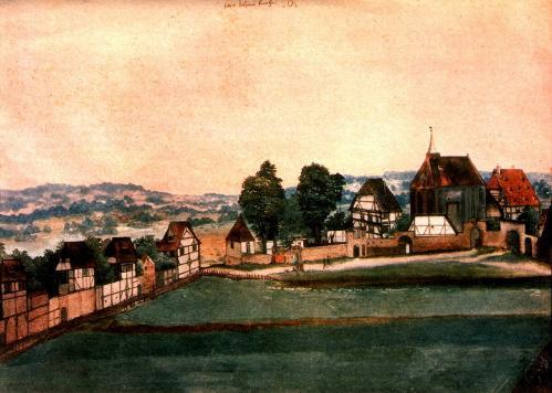 Albrecht Dürer. L'Église Saint-Jean à Nuremberg (v. 1489)