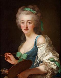 Alexander Roslin. Portrait d'Anne Vallayer-Coster (1783)