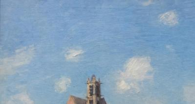Alfred Sisley. Le pont de Moret, détail