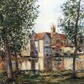 Alfred Sisley. Moret-sur-Loing au soleil levant (1888)
