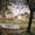 Alfred Sisley. Vue de Villeneuve-la-Garenne sur la Seine (1872)