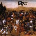 Andrea del Verrocchio (atelier). La bataille de Pydna (v. 1475)