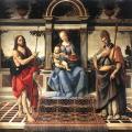 Andrea del Verrocchio. Vierge avec saint Jean-Baptiste et Donatus (1475-83)