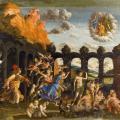 Mantegna. Minerve chassant les vices du jardin de la vertu (1500-1502)
